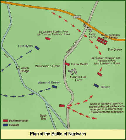 Plan of the Battle of Nantwich